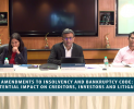 Webinar : Amendments to Insolvency and Bankruptcy Code: Potential Impact on Creditors, Investors and Litigants (August 01, 2019)