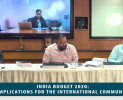 Webinar: India Budget 2020: Implications for the International Community (February 05, 2020)